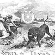 Texas Scene, 1855 Poster
