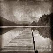 Textured Lake Poster by Bernard Jaubert