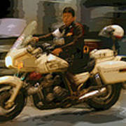 Thai Motorbike Police Poster by Kantilal Patel