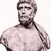 Thales, Ancient Greek Philosopher Poster by Photo Researchers