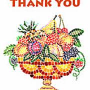 Thank You Card Fruit Vase Poster