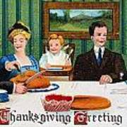 Thanksgiving Card, 1910 Poster