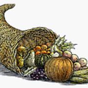 Thanksgiving: Cornucopia Poster