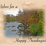 Thanksgiving Greeting Card - Autumn Creek Poster