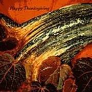 Thanksgiving Greeting Card Poster