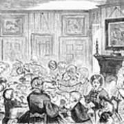 Thanskgiving Dinner, 1857 Poster