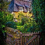Thatched Roof Country Home Poster