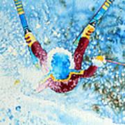 The Aerial Skier - 14 Poster by Hanne Lore Koehler