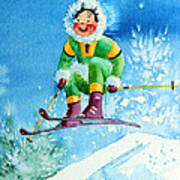 The Aerial Skier - 9 Poster by Hanne Lore Koehler