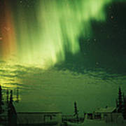 The Aurora Borealis Shimmers Poster