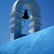 The Bell Tower In Mykonos Poster
