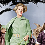 The Birds, Tippi Hedren Center, 1963 Poster by Everett