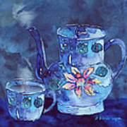 The Blue Teapot Poster