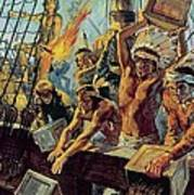 The Boston Tea Party Poster by Luis Arcas Brauner