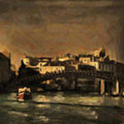 The Canal Venice Poster