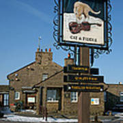 The Cat And Fiddle Pub Poster