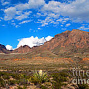 The Chisos Mountains Big Bend Texas Poster