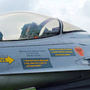 The Cockpit Of An F-16 Fighting Falcon Poster