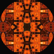 The Color Orange Mandala Abstract Poster