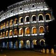 The Colosseum At Night Poster
