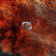 The Crescent Nebula With Soap-bubble Poster by Rolf Geissinger