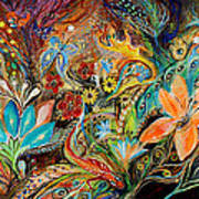 The Dance Of Lizards Poster by Elena Kotliarker