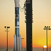 The Delta II Rocket On Its Launch Pad Poster