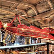 The Detroit News Airplane Dearborn Mi Poster
