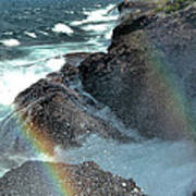 The Devils Washtub With Double Rainbow Poster