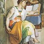 The Erythraean Sibyl Poster by Michelangelo Buonarroti
