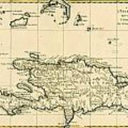 The French And Spanish Colony Of The Island Of St Dominic Of The Greater Antilles Poster by Guillaume Raynal