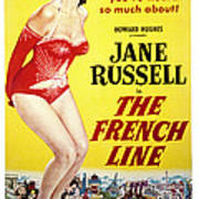 The French Line, Jane Russell, 1954 Poster by Everett