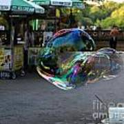 The Giant Bubble At Bethesda Terrace Poster