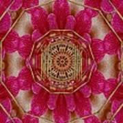 The Golden Orchid Mandala Poster