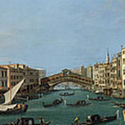 The Grand Canal Poster by Antonio Canaletto