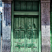 The Green Door In The French Quarter Poster