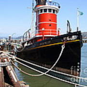 The Hercules . A 1907 Steam Tug Boat At The Hyde Street Pier In San Francisco California . 7d14137 Poster