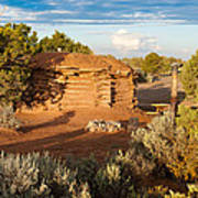 The Hogan Where  We Stayed Canyon Dechelly Nps Poster
