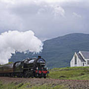 The Jacobite Express At Lochailort Church Poster