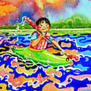 The Kayak Racer 12 Poster
