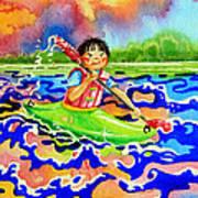 The Kayak Racer 12 Poster by Hanne Lore Koehler