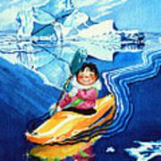 The Kayak Racer 13 Poster by Hanne Lore Koehler