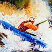 The Kayak Racer 17 Poster by Hanne Lore Koehler