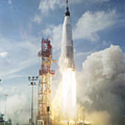The Launch Of The Mercury-atlas 4 Poster