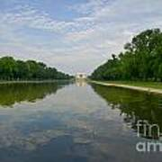 The Lincoln Memorial And Reflecting Pool Poster