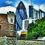 The London Gherkin  Poster