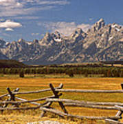 The Majestic Tetons Poster