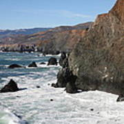 The Marin Headlands - California Shoreline - 5d19692 Poster