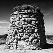 the memorial cairn on Culloden moor battlefield site highlands scotland Poster