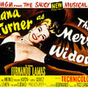 The Merry Widow, Lana Turner, 1952 Poster